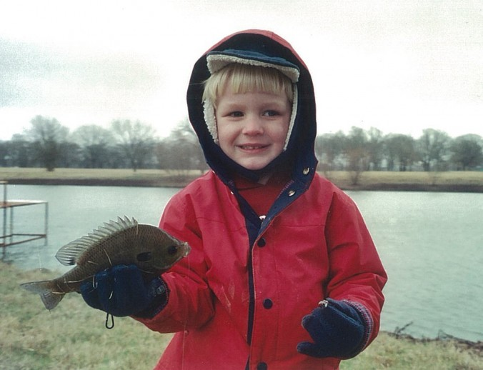 My kids learned that fishing is cool at a very early age.